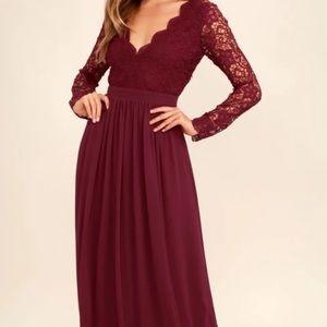 Lulu's Awaken My Love Burgundy Dress